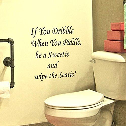New Bathroom Art (Voberry New Toilet Seat Wall Sticker Vinyl Art Removable Decals Decor for Bathroom)