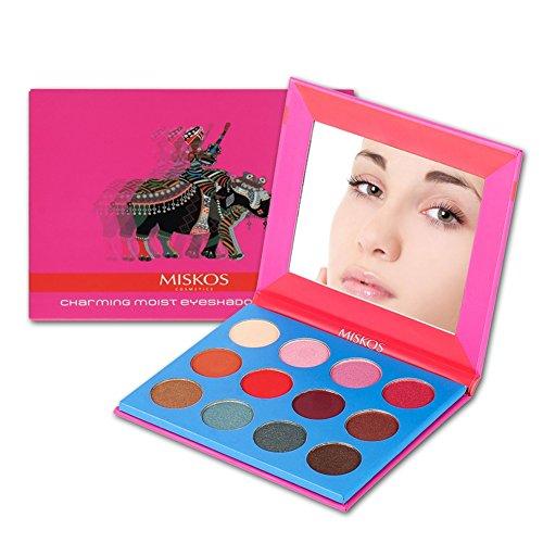 ROPALIA 12 Color Earth Eyeshadow Pink Waterproof Palette