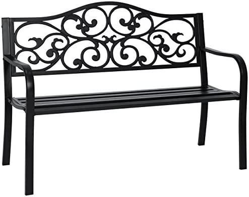 Best Choice Products 50in Classic Metal Patio Garden Bench