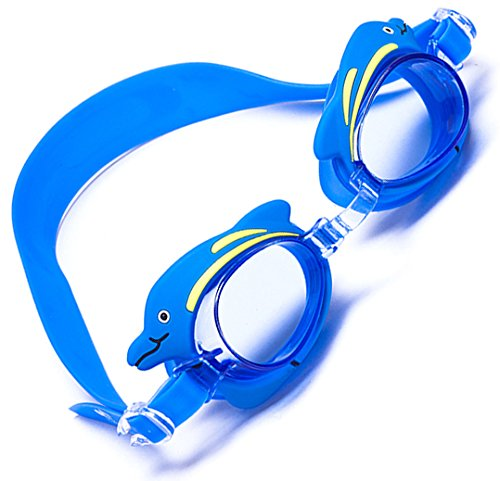 Aguaphile Kids Swim Goggles With Cute Cartoon Tops - Soft and Comfortable, Anti-Fog UV Protection - Best Swimming Goggles for Kids with Case - Compare to Speedo, Aqua Sphere, or - Compare Goggles Swimming