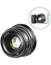Neewer 25mm f/1,8 Manueller Fokus Haupt fixierte Objektiv für Sony E-Montage Digital Mirrorless Kameras A6500 A6300 A6100 NEX 3 NEX 5 usw komplett Metallkonstruktion (schwarz)