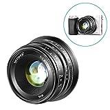 Neewer 25mm f/1.8 Manual Focus Prime Fixed Lens for Sony E-Mount Digital Mirrorless Cameras A6500, A6300, A6100, A5000, A5100, A6000, NEX 3 NEX 3N NEX 5 NEX 5R NEX 6 7, All Metal Construction (Black)