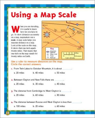 Amazon.com: Scholastic Success With: Maps Workbook: Grade 4 ...