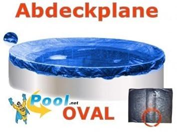PEB Pool Abdeckplane Winterabdeckplane Winterabdeckung für Ovalbecken 6,5 x 4,2
