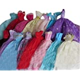 Set of 5 Doll Elegant Dresses for 11.5'' Dolls RANDOM STYLE