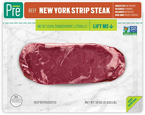 Pre, New York Strip Steak - 100% Grass-Fed, Grass-Finished, and Pasture-Raised...