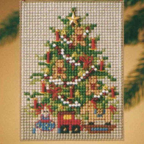 Old Fashioned Tree Charmed Ornament - Cross Stitch Kit Old Fashioned Beaded Christmas Ornaments