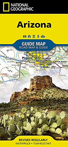 Arizona (National Geographic Guide Map)