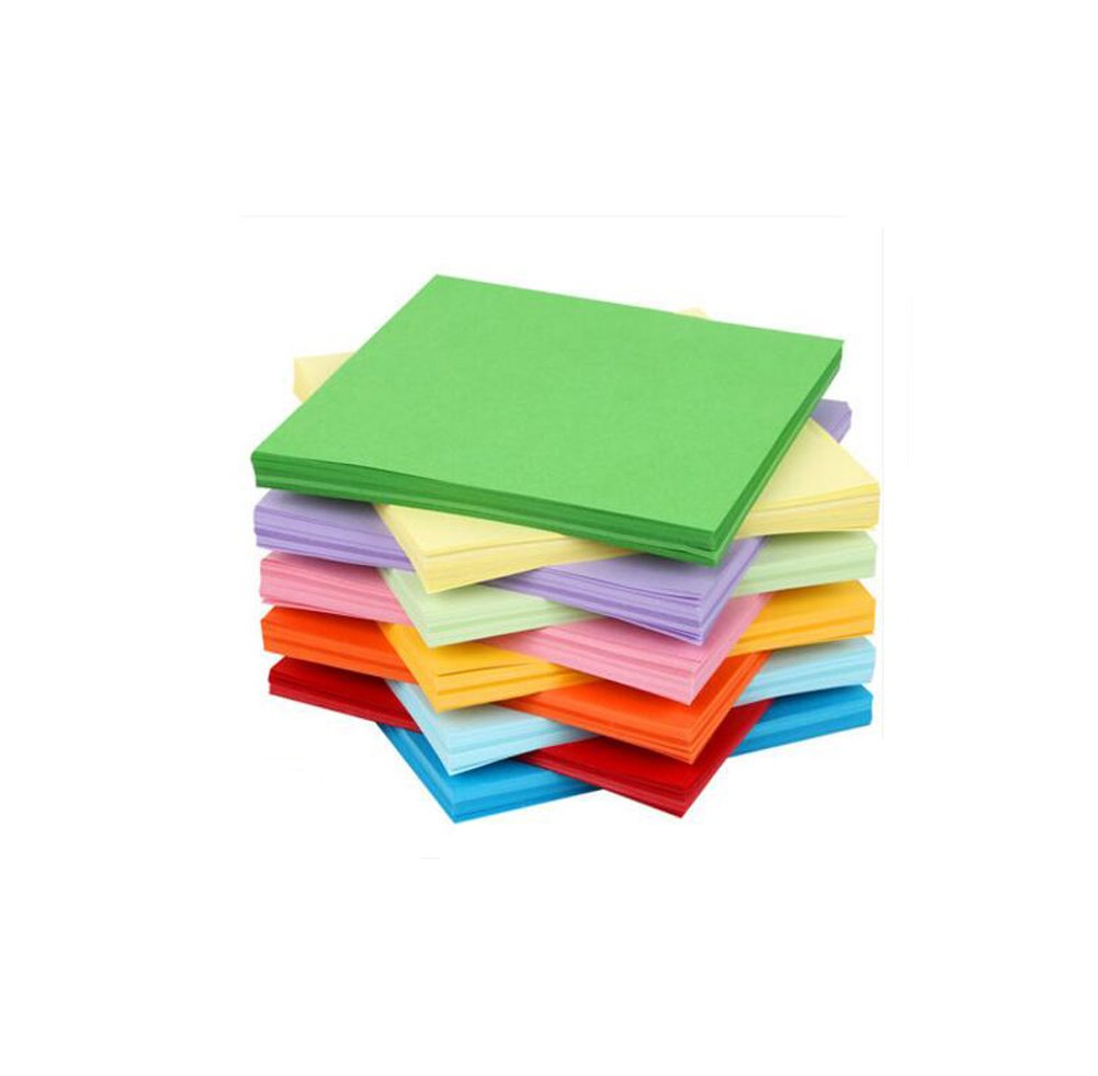 Elandy 200PCS 10cm x 10cm/4'' x 4'' Assorted Color Square Handmade Folding Papers- Double Sided Origami Paper For Kindergarten Handmade DIY Accessories (10 Colors)