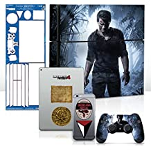 Controller Gear Uncharted 4 A Thief's End - PS4 Console & Gaming Skin Pack - Officially Licensed