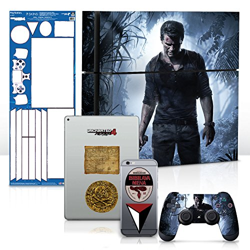 Controller-Gear-Uncharted-4-A-Thiefs-End-PS4-Console-Gaming-Skin-Pack-Officially-Licensed