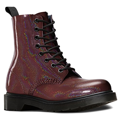 Dr. Martens Pascal Patent Red, Chaussures bateau femme Rouge - Rouge
