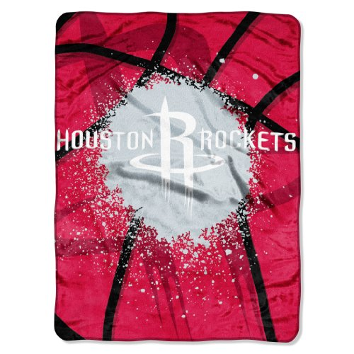 (The Northwest Company Officially Licensed NBA Houston Rockets Shadow Play Plush Raschel Throw Blanket, 60