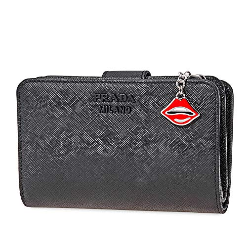 Prada Saffiano Leather Wallet- Black