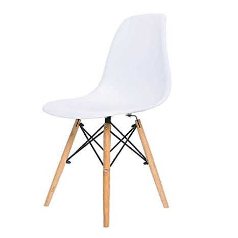 Amazon.com - QYJ-Dining chair Kitchen Chair White Leather ...