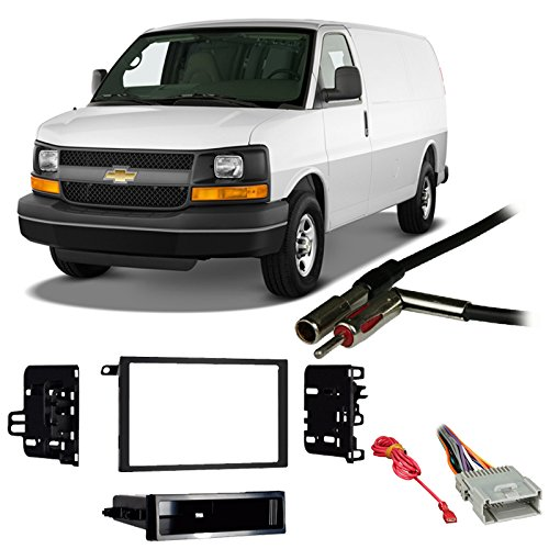 amazon com: fits chevy express van 01-02 double din stereo harness radio  install dash kit: car electronics