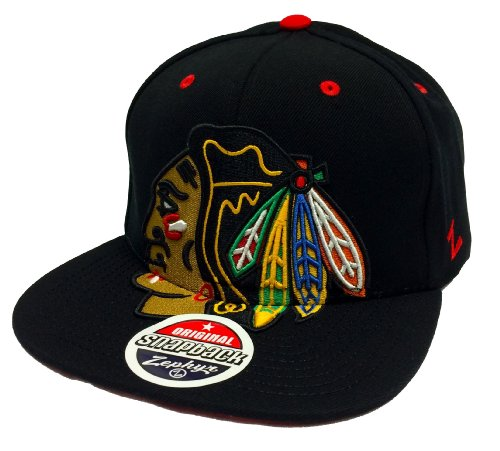 Zephyr Menace Chicago Blackhawks Black Snapback