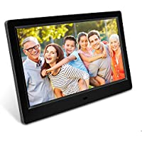 Dooreemee Digital Photo Frame, 10.1-inch 1080P HD IPS LCD Screen Eletronic Picture Frame Albums with Alarm clock/Calendar/Clock Function, MP3/Photo/Video Play with Remote Control