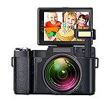 SEREE HD Digital Camera Camcorder Full HD 1080p 24.0 Megapixels 4x Digital Zoom 3 Inch LCD Screen Flashlight ... (black1)