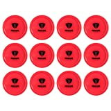 Truscope Sports 12 Pack 3 1/4 Inch Air Hockey Pucks (Red)