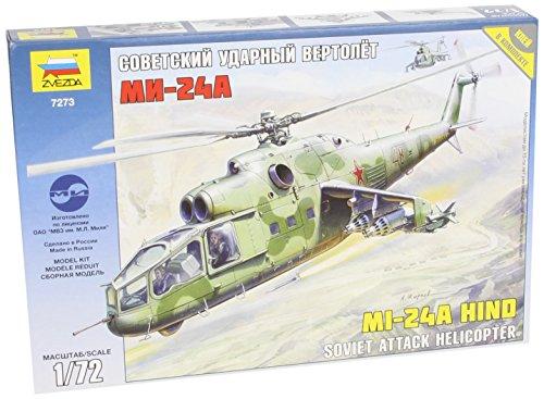 Zvezda 1/72 Mil Mi-24A Hind Helicopter Gunship Model Kit
