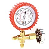 Air Conditioner Round Single Manifold Pressure Gauge Tool 11mm Thread