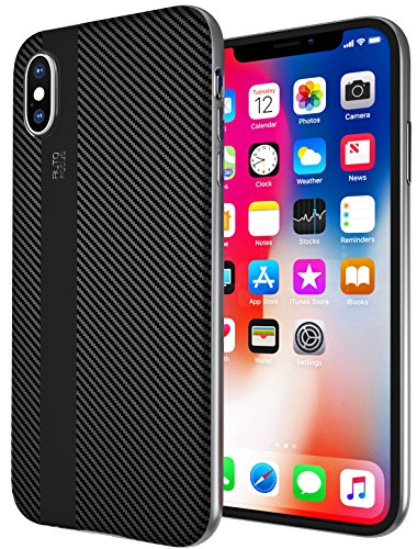 - Blue Defender iPhone X Case Ultra Slim Thin Cover Hard Bumper Case for Apple iPhone X Cell Phone Black Protective Premium Shell with Silver PC Frame