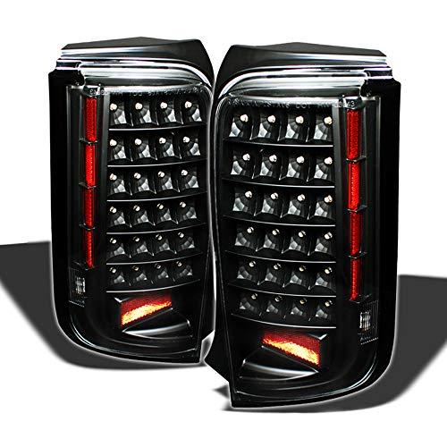 ACANII - For 2008 2009 2010 Scion Xb Bb JDM Black LED Tail Lights Brake Lamps Left+Right -