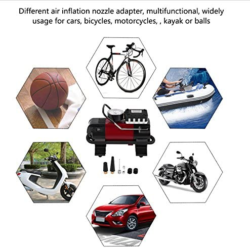 Estink Inflator Pump,12V Digital Car Tire Inflator Air Compressor Pump 100PSI W//LED Lamp Display for Car Ball Bike Air Boat
