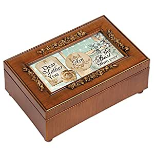 Cottage Garden Best Mom Ever Woodgrain Rose Mother Gift Music Jewelry Box
