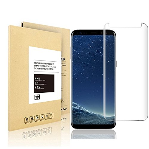 Samsung Galaxy S8 Plus Screen Protector, Linboll [9H Hardness 2.5D Round Edge]New Curved Full Tempered Glass Screen Protector Film For for Samsung Galaxy S8 Plus 6.2 inch Easy Installation]