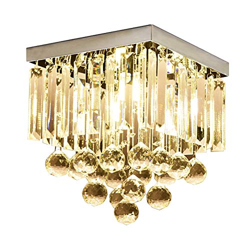 Hsyile KU300114 Modern Simple Ceiling Lamp Square Crystal Lamp Creative Lighting Corridor Lamp Aisle Lights,1 Light