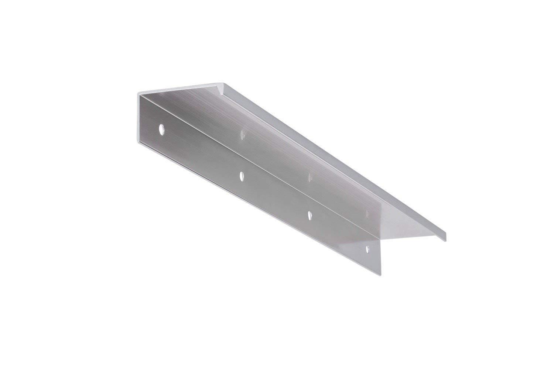 Gedotec Design Moderne Meubles Poignée barre modèle Sky en aluminium pour bois chargement & Tiroirs – Distance de perçage de 280 mm – Hauteur 20 mm – poignée de profil Aluminium imitation | 1 Pièce