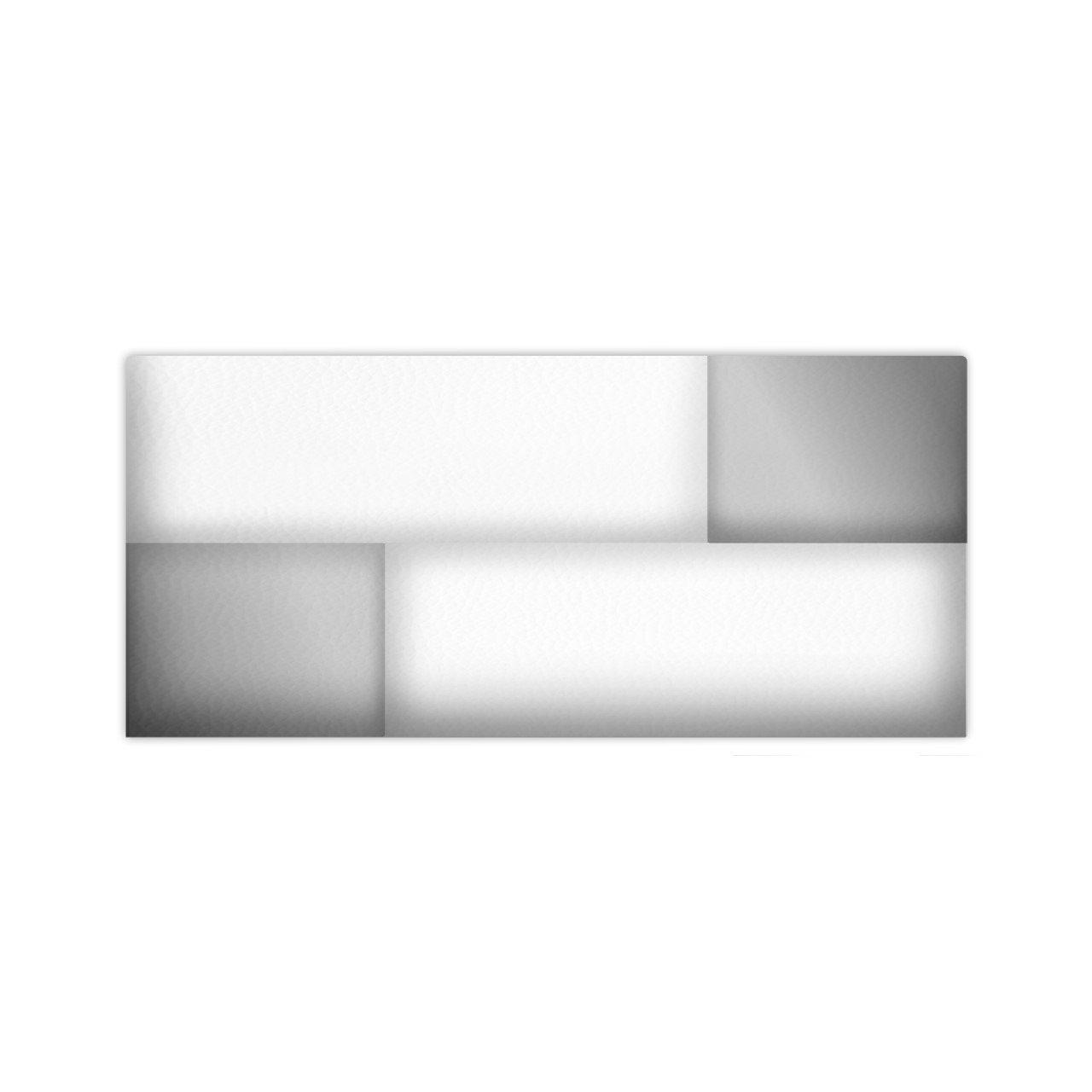 SUENOSZZZ - Cabecero Diseño Tokio. Color Blanco/Plata (Camas 135,150) 160X80X8 Cms.