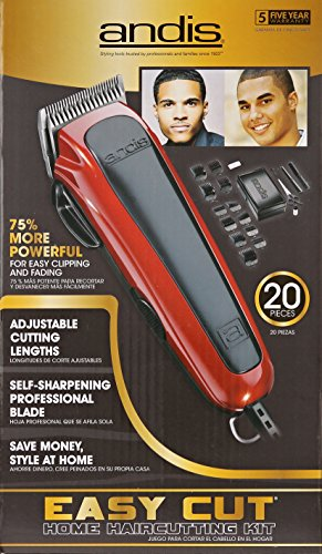 Andis Easy Cut 20-Piece Haircutting Kit, Red/Black (75360) by Andis (Image #4)