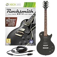 Rocksmith 2014 Xbox 360 + Guitare électrique New Jersey II Noir