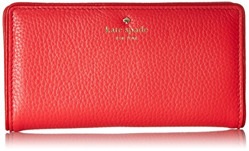 Kate spade new york Cobble Hill Stacy Wallet, Crab Red/Parrot Feather, One Size