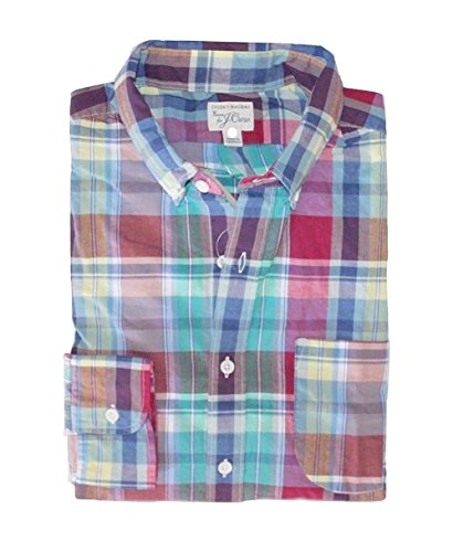 J. Crew - Men's - Classic Fit - Plaid Madras Casual Button-Front Shirt (Large)
