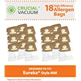 18 Eureka Style MM Allergen-rated Vacuum Bags for Eureka Mighty Mite & Sanitaire Vacuums; Compare to Eureka Part Nos. 60295, 60296, 60297; Designed & Engineered by Think Crucial