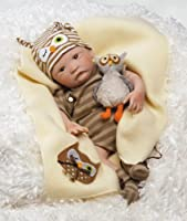 Paradise Galleries Hoot! Hoot! Boy Baby Doll that Looks like a Realistic Baby, 15 inch vinyl