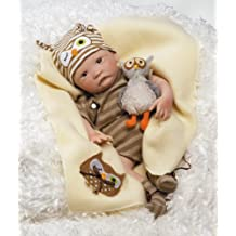 Paradise Galleries Hoot! Hoot! Baby Doll that Looks like a Real Baby, 16 inch vinyl - Great for Reborn