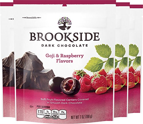 Chocolate Raspberry Creams Dunmore Candy Kitchen: BROOKSIDE Dark Chocolate Candy, Goji & Raspberry, 7 Ounce