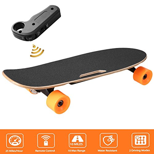 Garain Electric Skateboard Longboard with Remote Controller, 7 Layers Maple E-Skateboard Li-Ion Battery by Garain