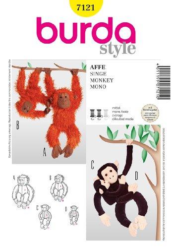BURDA 7121 MONKEY / Orangutan ~ STUFFED ANIMAL ~ SEWING PATTERN