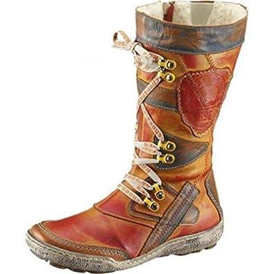 KACPER DAMEN STIEFELETTE Boots Leder Lammwolle Gr. 37 NEU
