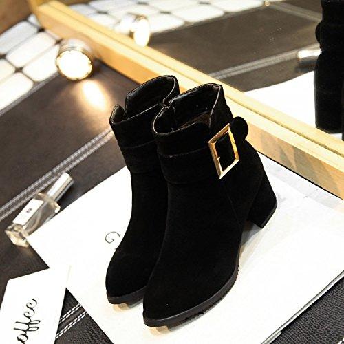 Kragen weißen Studentin Damen Stiefel mode mit LGK Stiefelette Alle Frühling passen amp;FA Stiefel Schuhe Arbeit qxBq608wU