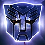 Edge Glowing LED Transformers AUTOBOTS Car Emblem - WHITE