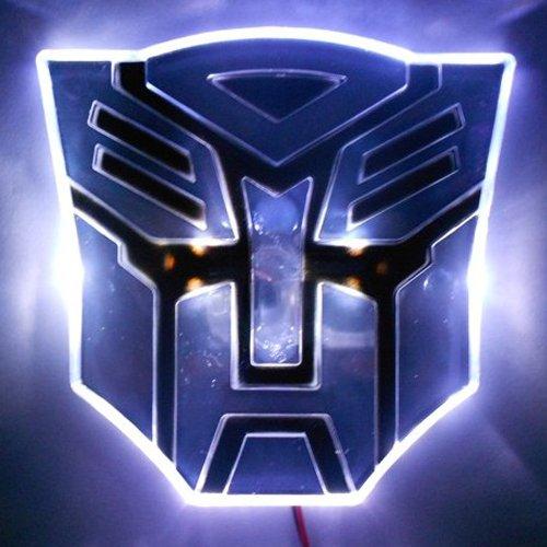 Edge Glowing LED Transformers AUTOBOTS Car Emblem – WHITE
