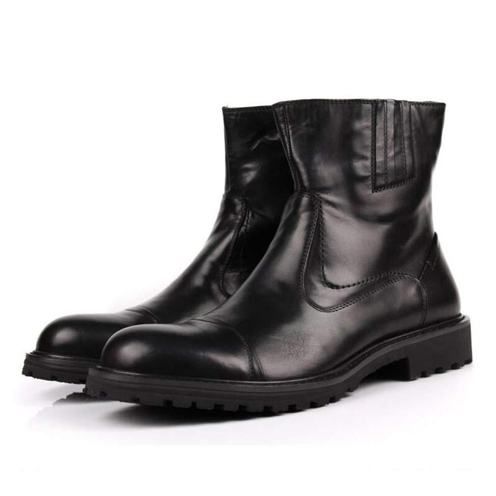 Hy Herrenschuhe, Herbst Winter Leder Dicke Unterseite erhöhen Martins Stiefel, Werkzeug Stiefel Formale Schuhe Büro & Karriere Party & Abend (Farbe   Schwarz, Größe   41)