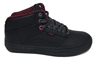 ebcc31f37adb1 Amazon.com | Vans Mens Bedford Mid Top Mens Size 6.5 Ballistic Black ...